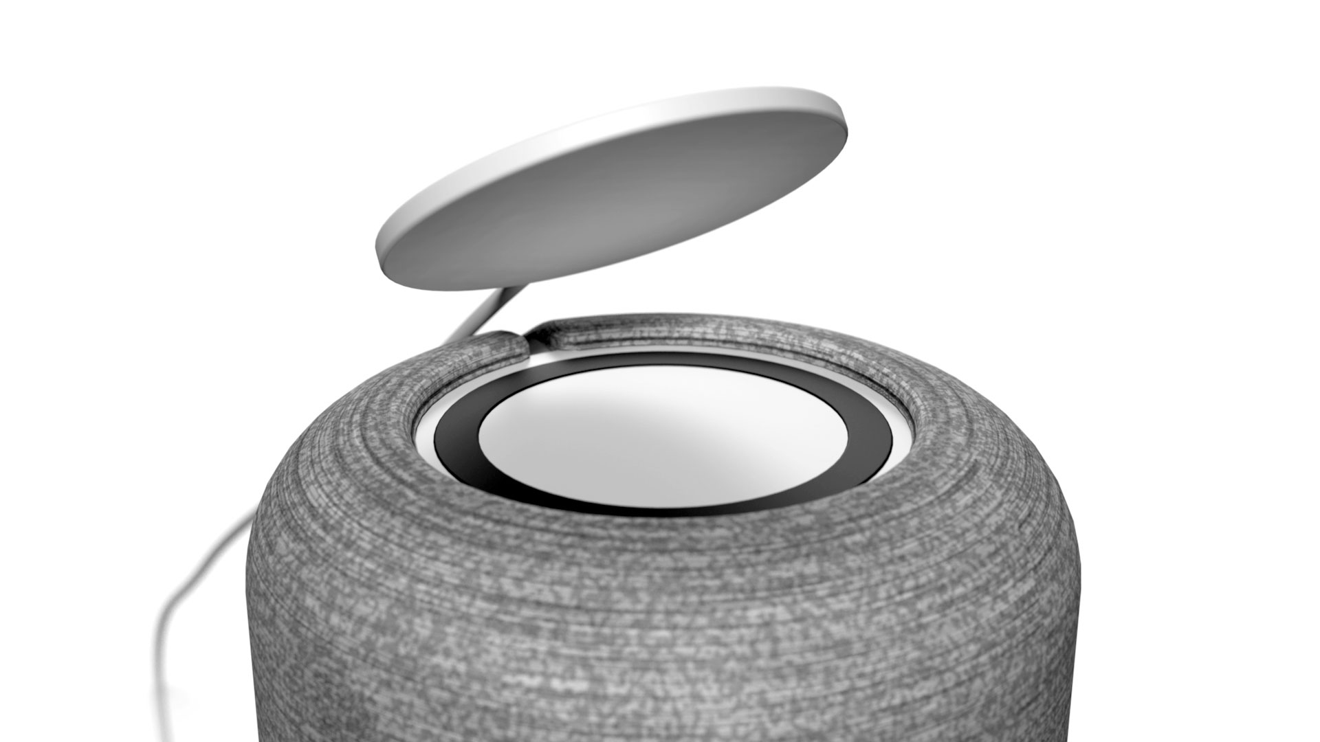Gloo detail view of wireless charging on smart speaker