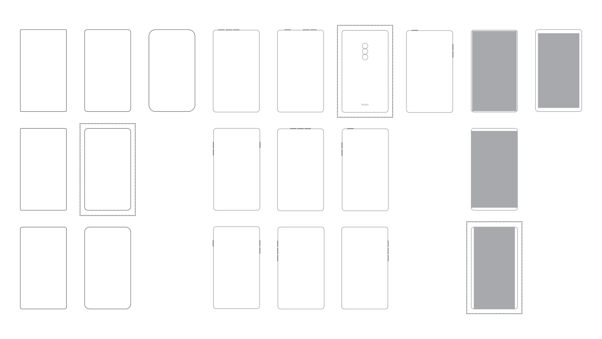 Smartphone design variations