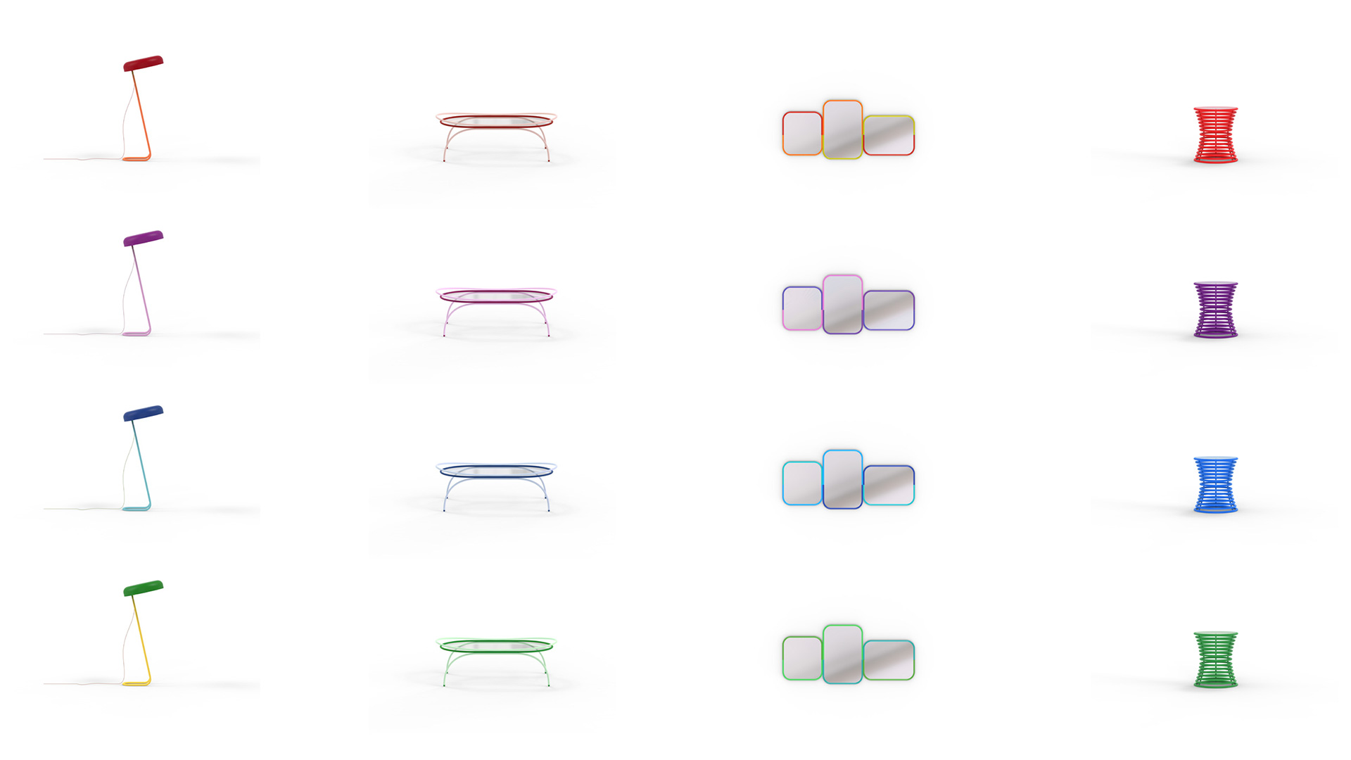 Colour variations of London Tube furniture