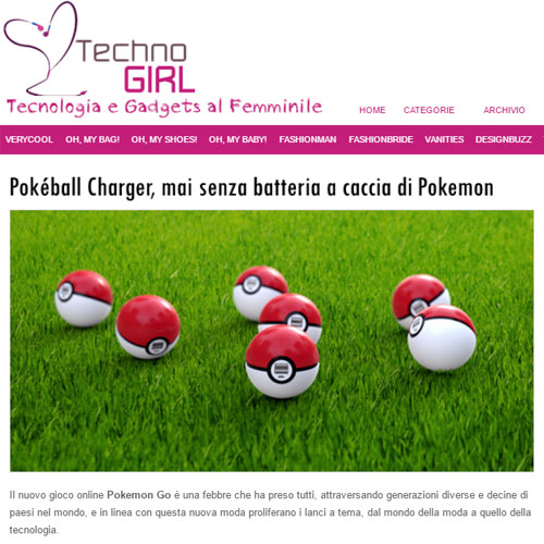Pokeball Charger Techno Girl